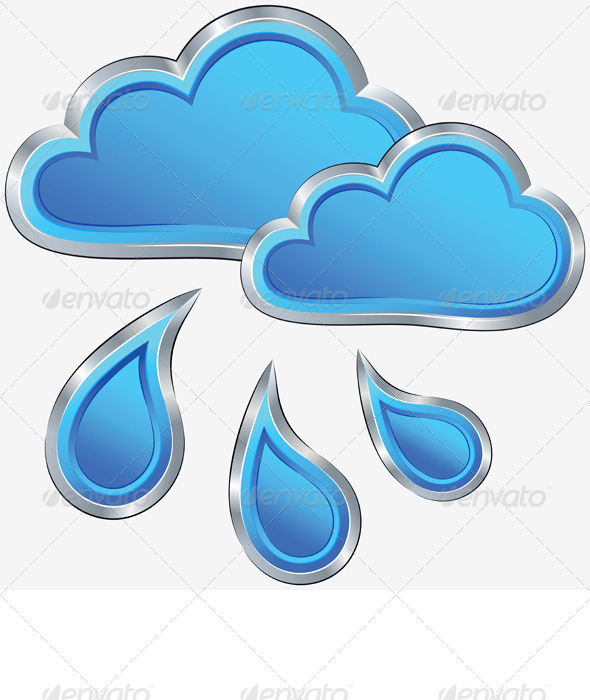 GraphicRiver Vector Icon of Rainy Weather 3310262