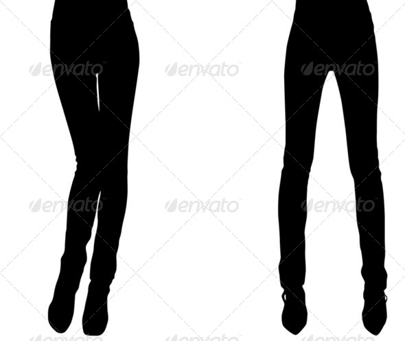 Silhouette of a weak elegant woman - Stock Photo - Images