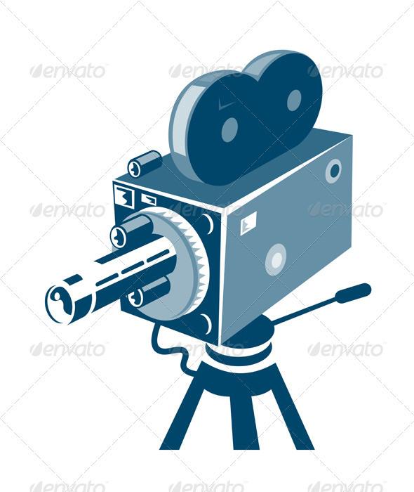 GraphicRiver Vintage Video Movie Camera Retro 3310476
