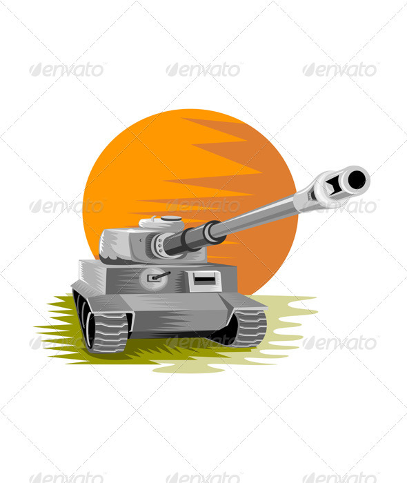 GraphicRiver World War Two Sherman Battle Tank 3310486