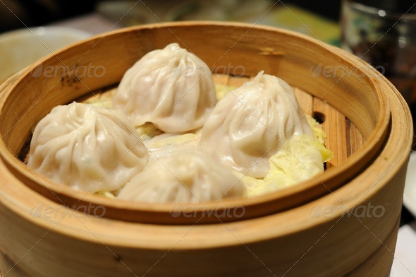 Shanghai soup dumplings - Stock Photo - Images