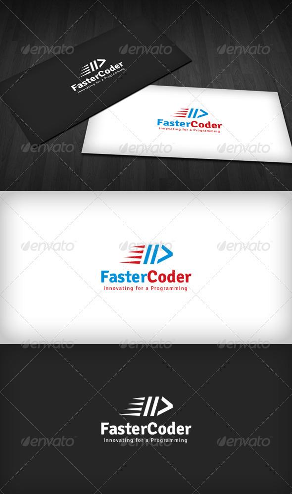 GraphicRiver Faster Coder Logo 3310525