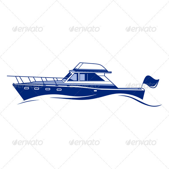 GraphicRiver Luxury Speedboat Yacht 3311326