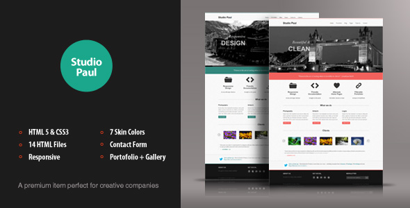 Studio Paul Responsive HTML Theme