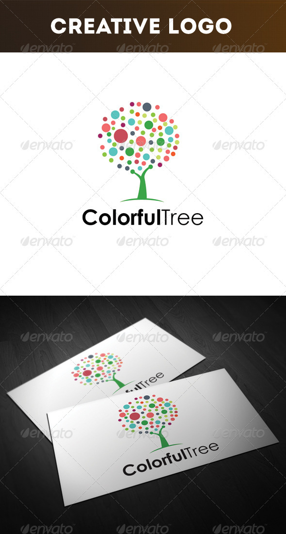 GraphicRiver Colorful Tree Logo 3312757