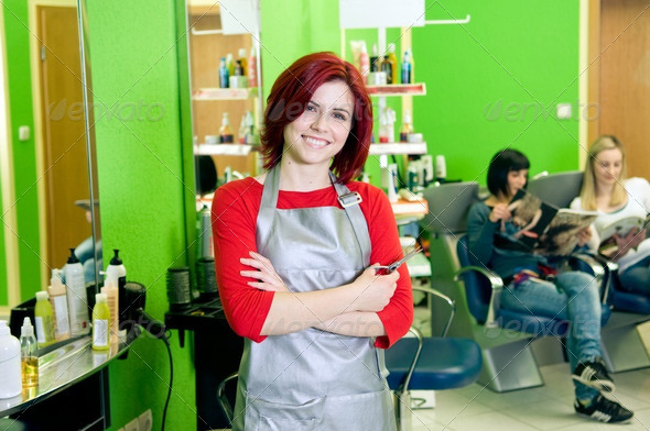 Hair salon owner or employee - Stock Photo - Images