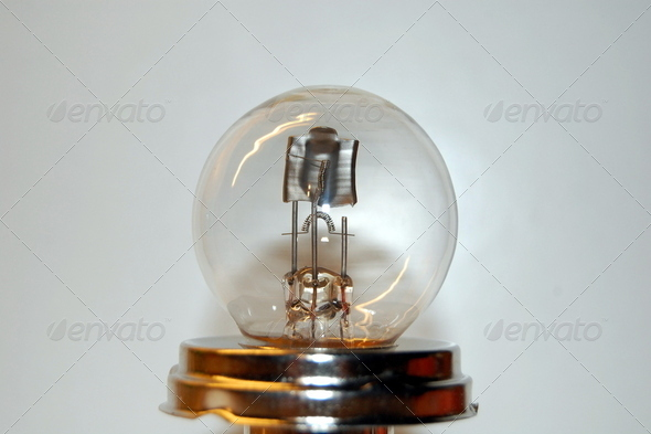 vintage incandescent car lamp for headlights and low beam - Stock Photo - Images