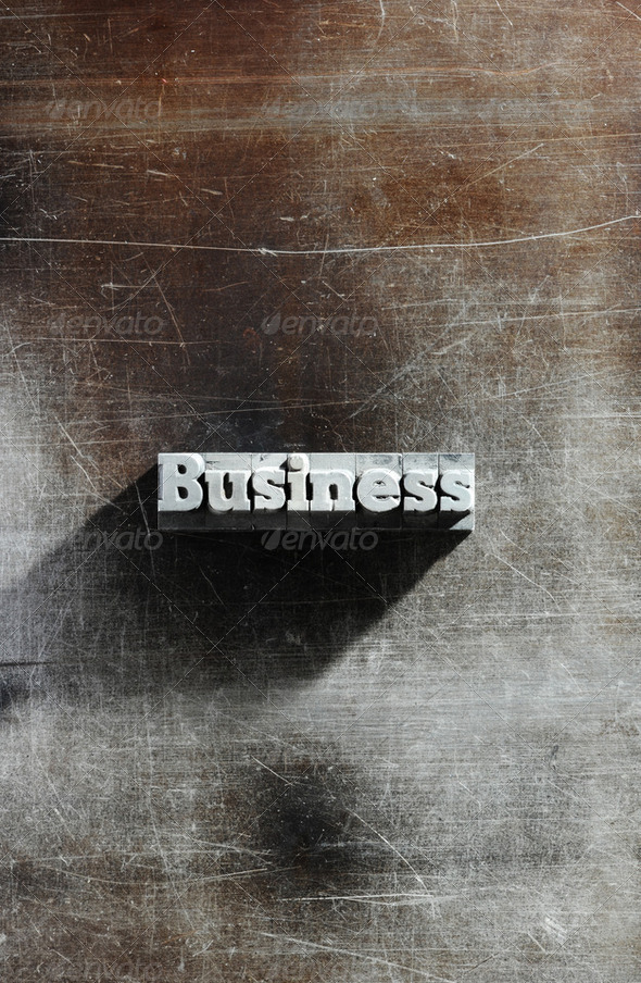 Old Metallic Letters:business background - Stock Photo - Images