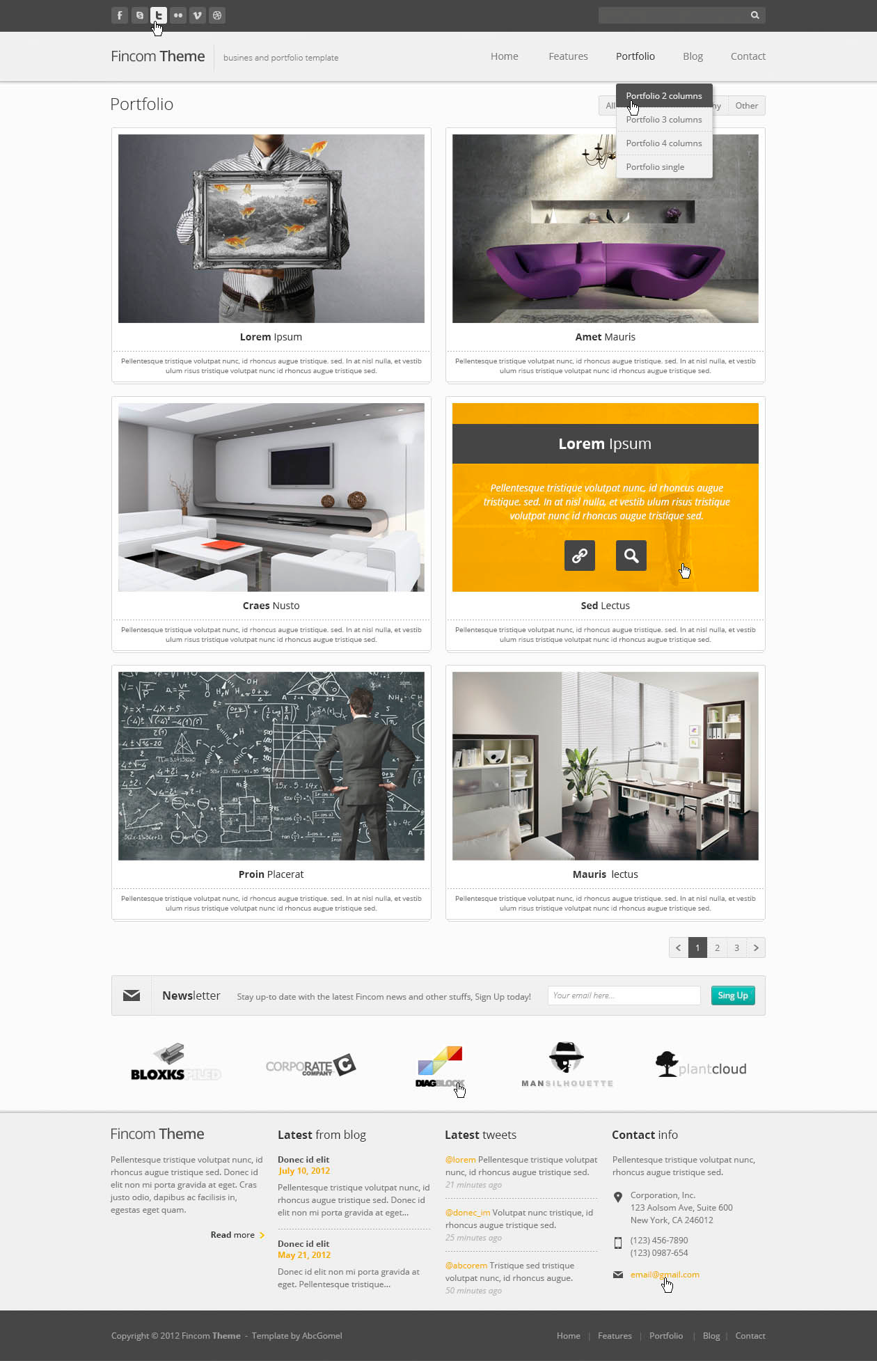 Fincom  Business PSD Template 