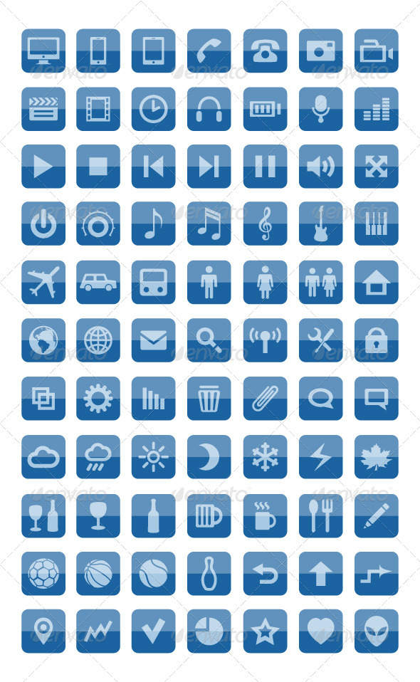 GraphicRiver Icons and pictograms set 3314698