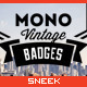 8 Mono Vintage Badges - GraphicRiver Item for Sale