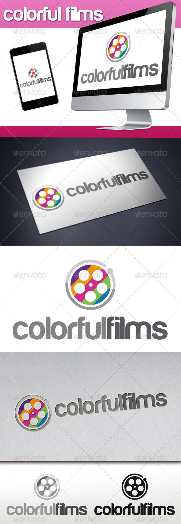GraphicRiver Colorful Films Logo 3315159