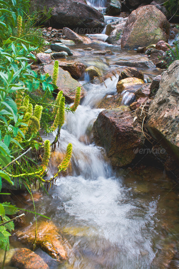 river waterfall - Stock Photo - Images
