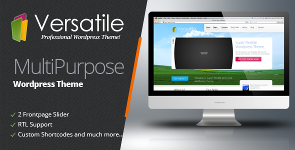 Versatile Premium Corporate &amp; Portfolio WP Theme - Business Corporate