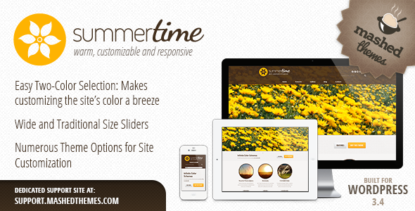 Summertime - Responsive, Multi-Purpose Theme - Corporate WordPress