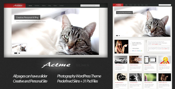 Actme - Creative Personal and Blog - Personal Blog / Magazine