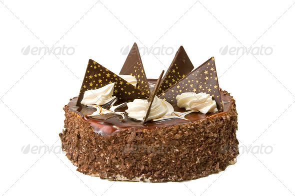 chocolaty  cake close up - Stock Photo - Images