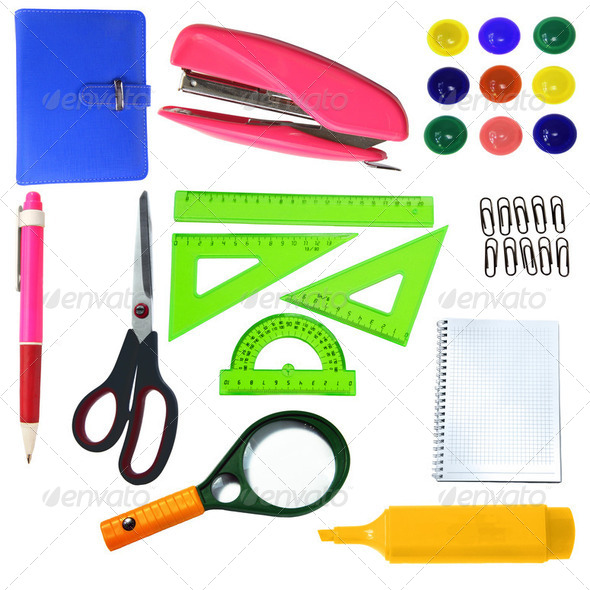 stationery  set for office - Stock Photo - Images