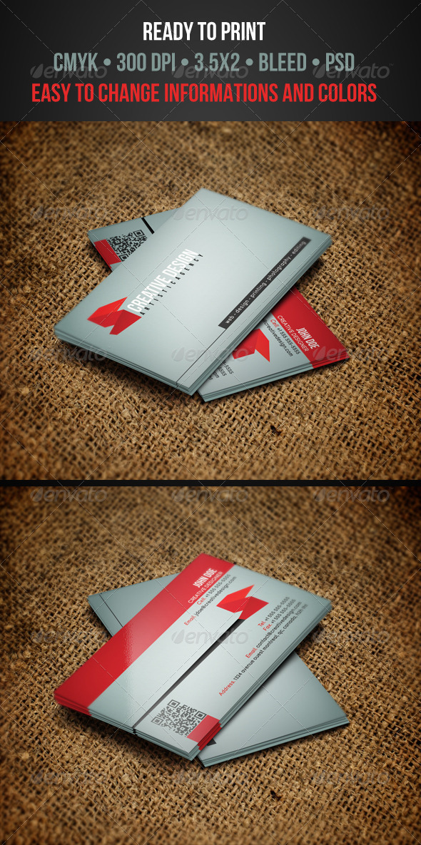 GraphicRiver Modern Business Card 3316746