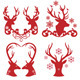 Christmas Deer Stag Heads, Vector  - GraphicRiver Item for Sale