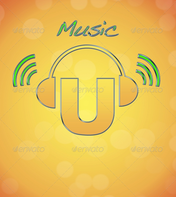 Logo music. - Stock Photo - Images