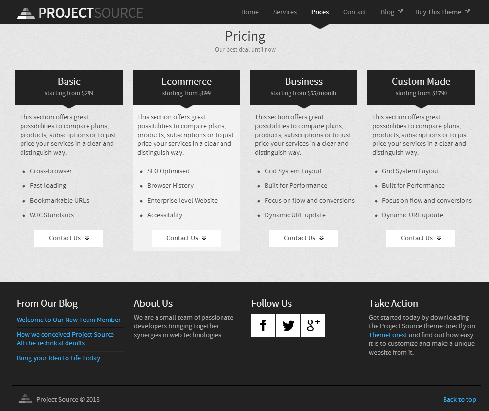 Project Source: Corporate HTML5 Responsive Website