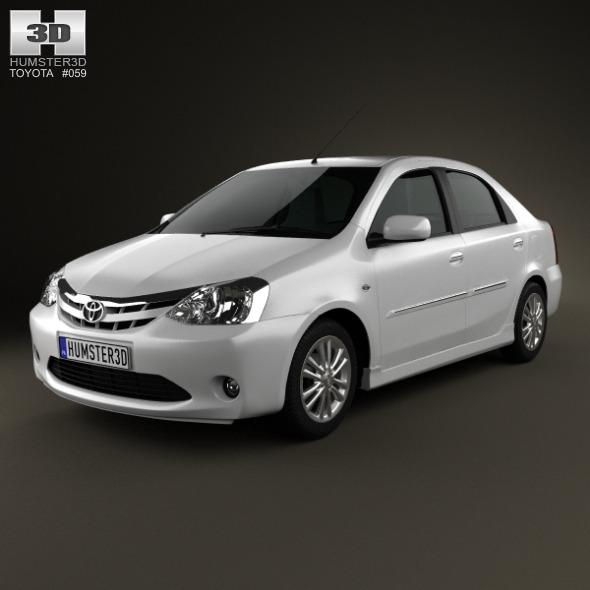 3DOcean Toyota Etios 2012 3317177