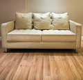 Light Cream Modren Sofa on Wood Floor - PhotoDune Item for Sale