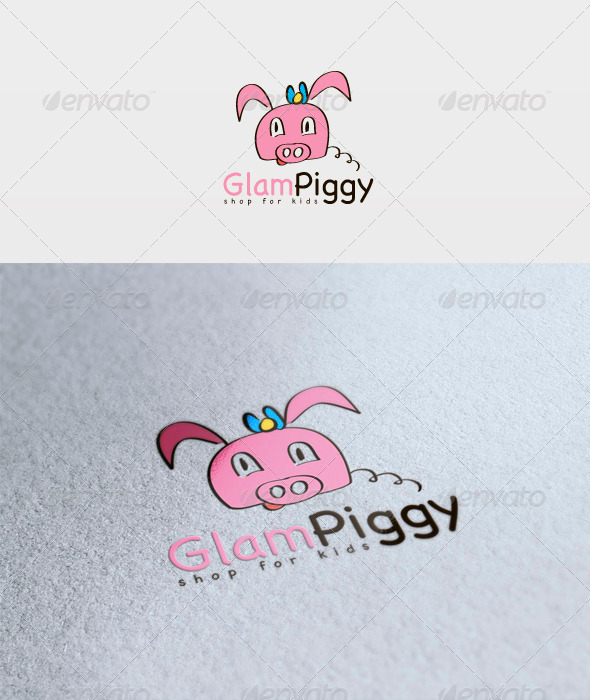 GraphicRiver Glam Piggy Logo 3317729