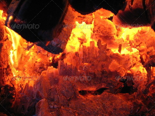 Fire from the furnace - Stock Photo - Images