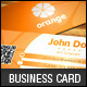 Elegant Orange Business Card Template - GraphicRiver Item for Sale