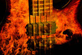 Bass Guitar Fire - PhotoDune Item for Sale