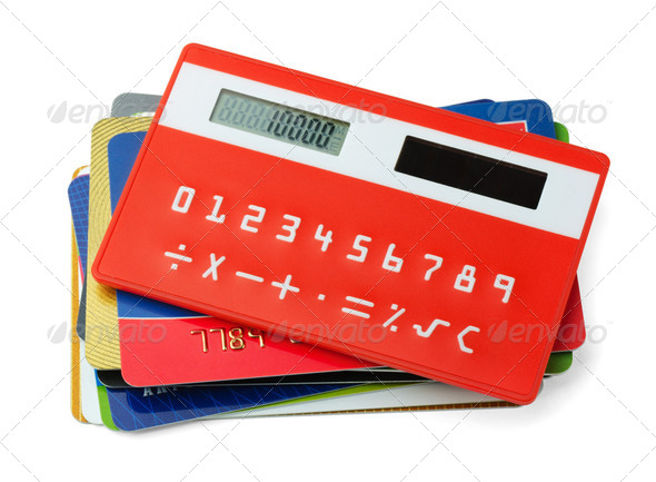 Calculator and credit cards - Stock Photo - Images