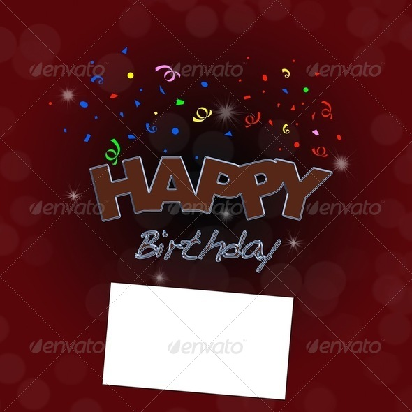 Happy birthday. - Stock Photo - Images