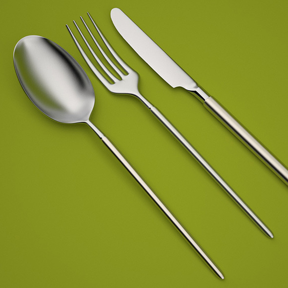 Modern Cutlery - 3DOcean Item for Sale