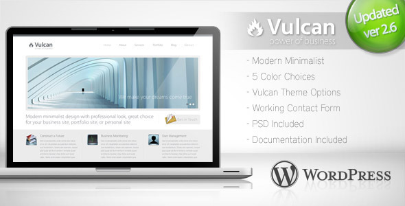 Vulcan - Minimalist Business Wordpress Theme 4 - Corporate WordPress