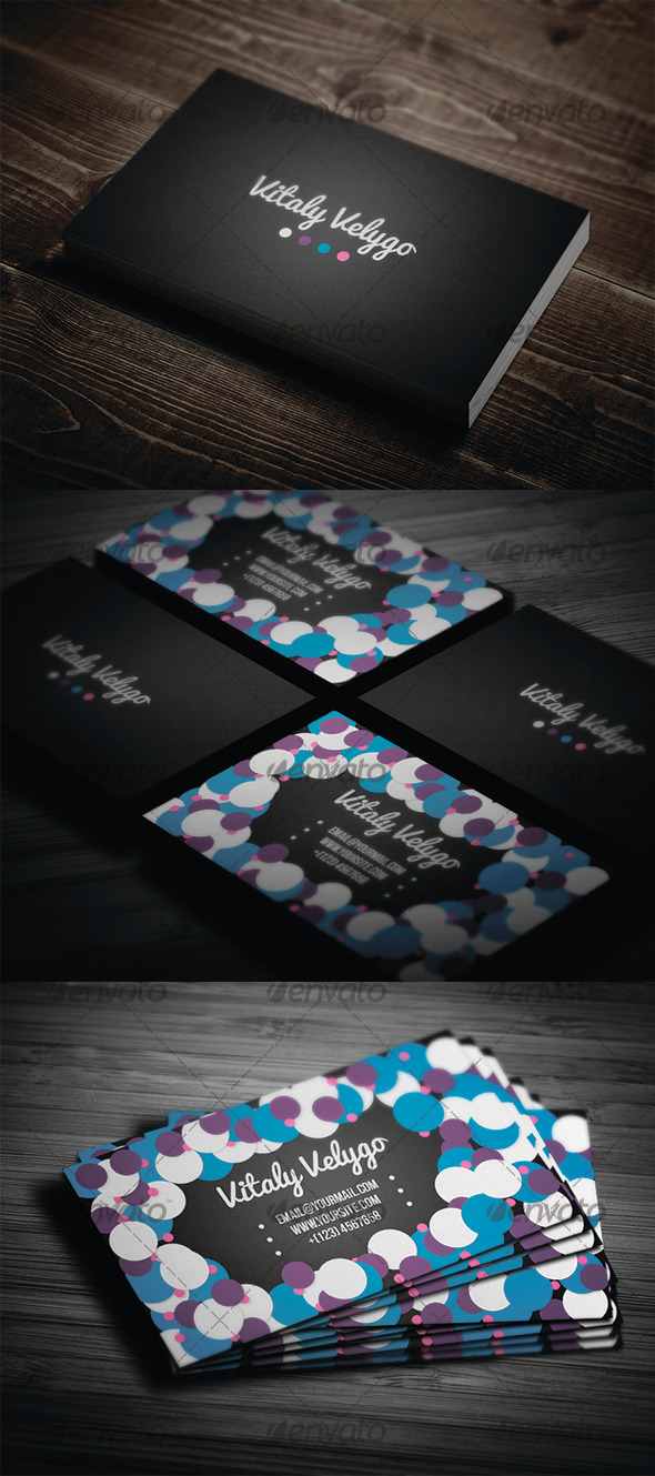 GraphicRiver Bubble Style Business Card 3318409