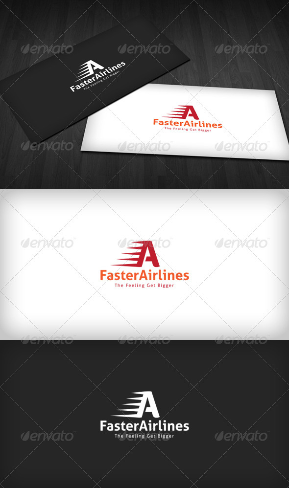 GraphicRiver Faster Airlines Logo 3318761