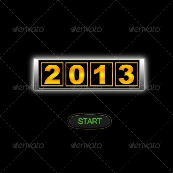 2013 start. - Stock Photo - Images