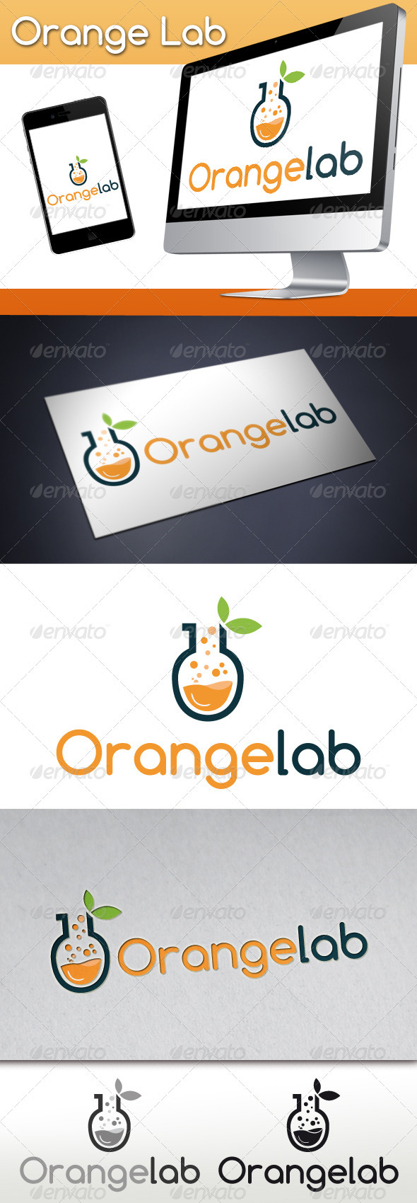 GraphicRiver Orange Lab Studio Logo 3319269