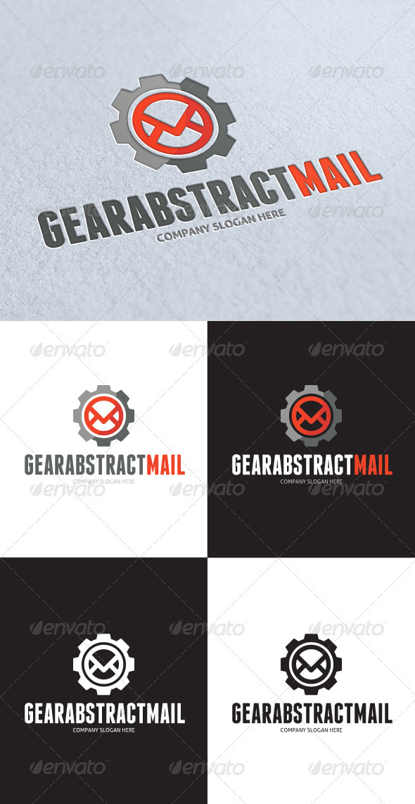 GraphicRiver Gear Abstract Mail Logo 3319283