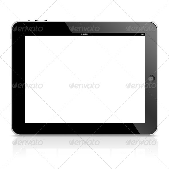 tablet computer isolated - Stock Photo - Images