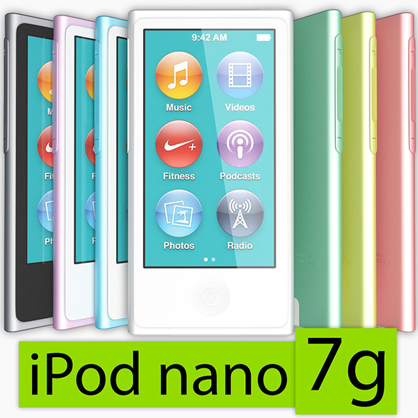 3DOcean Apple iPod nano 7g 3319621
