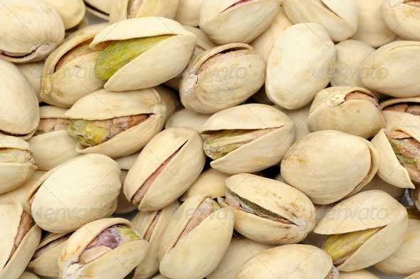 Pistachios nuts background - Stock Photo - Images