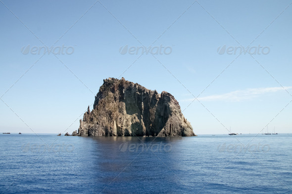 Strombolicchio in Isole Eolie  - Stock Photo - Images
