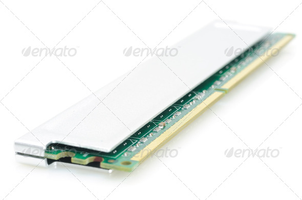 Computer memory module - Stock Photo - Images