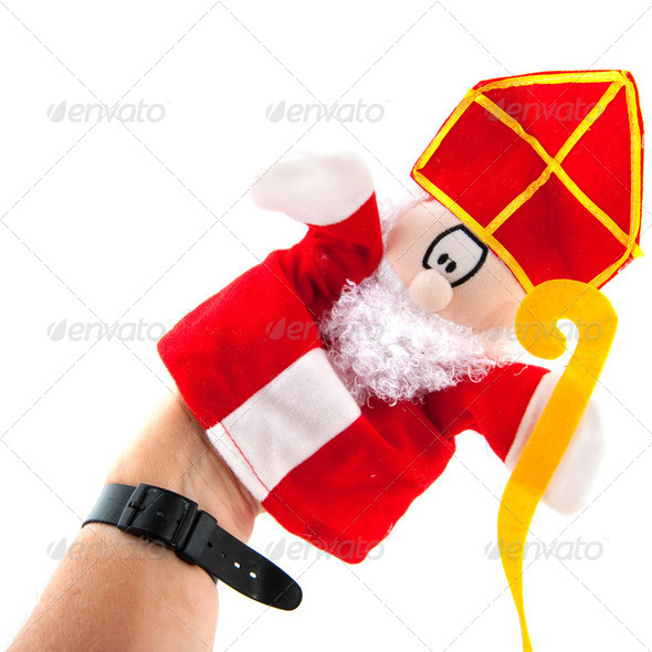 hand puppet Sinterklaas - Stock Photo - Images