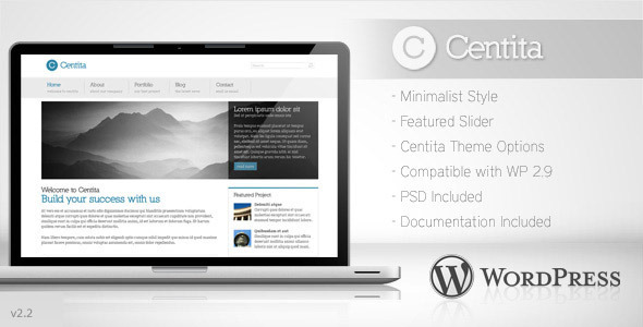 ThemeForest Centita Minimalist Business Wordpress Theme 82640