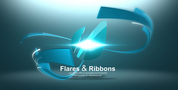 After Effects Project - VideoHive Flares & Ribbons Logo Reveal 3320848