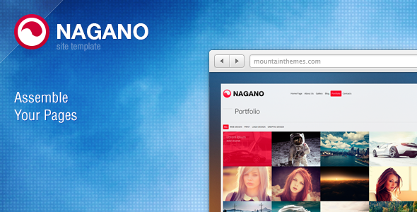 Nagano Site Template - Business Corporate